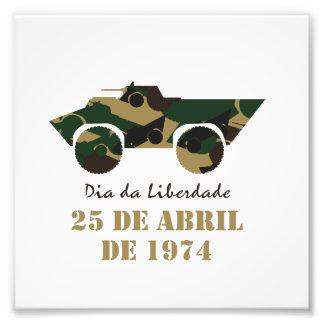 Portugal 25 de Abril - frihetsdag Fototryck