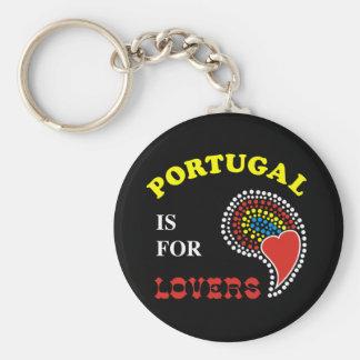 Portugal är för älskare rund nyckelring