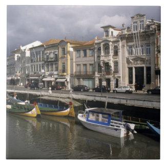 Portugal Aveiro. Moliceiros (samla för sjögräs Kakelplatta