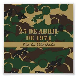 Portugal, diameter da Liberdade eller frihetsdag Fototryck