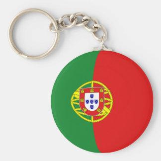 Portugal Fisheye flagga Keychain Rund Nyckelring