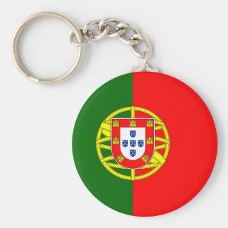 Portugal flagedesign rund nyckelring