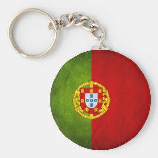 Portugal flagga Keychain Rund Nyckelring