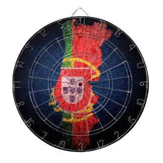 Portugal flagga och karta piltavla