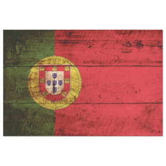 Portugal flagga på gammalt Wood korn