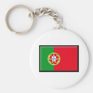 Portugal flagga rund nyckelring