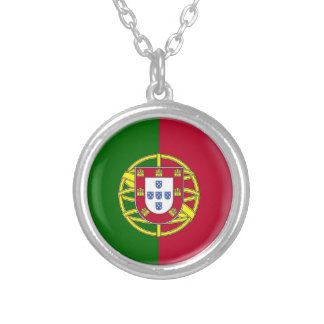 Portugal flaggahalsband halsband med rund hängsmycke