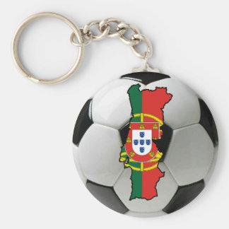 Portugal futebol rund nyckelring