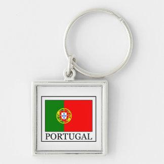 Portugal keychain fyrkantig silverfärgad nyckelring