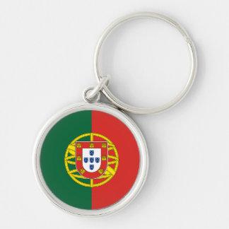portugal keychain rund silverfärgad nyckelring