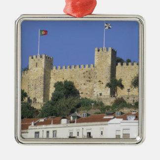 Portugal Lisbon. Castelo de Sao Jorge. Julgransprydnad Metall