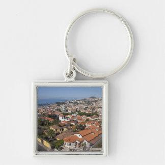 Portugal Madeira ö, Funchal. Kabelbil Fyrkantig Silverfärgad Nyckelring
