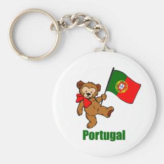 Portugal nalle Keychain Rund Nyckelring