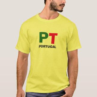 Portugal* sätta en klocka på halv liter-skjortan tee shirts
