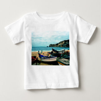 Portugal sjösidadropp - färgrika fartyg på t-shirt