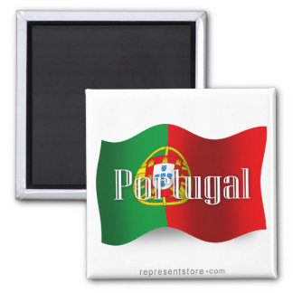 Portugal som vinkar flagga
