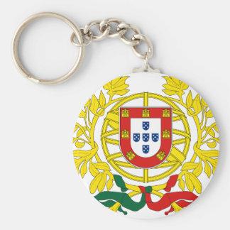 Portugal vapensköld rund nyckelring