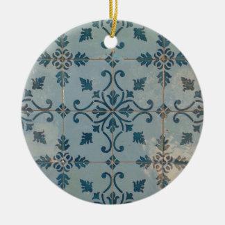 Portugal vintagemosaik julgransprydnad keramik