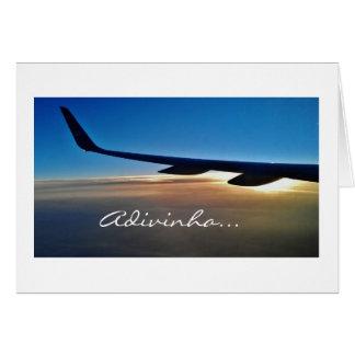 Portugis: Flygplantur Viajem de aviao Hälsningskort