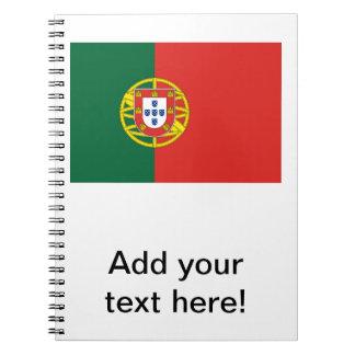 Portugisisk flagga anteckningsbok