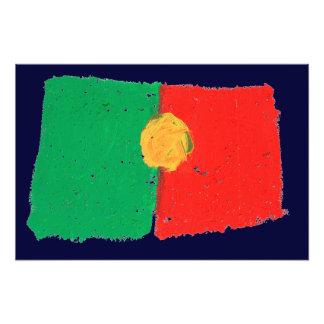 Portugisisk flagga fototryck