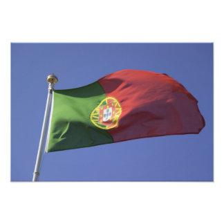 Portugisisk flagga RF) Fototryck