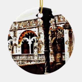 Portugisisk kloster - Mosteiro DOS Jeronimos Julgransprydnad Keramik