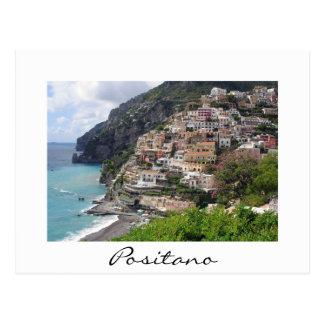 Positano town på vykortet för Amalfi kustenvit Vykort