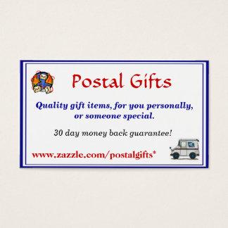 Post- gåvavisitkort visitkort