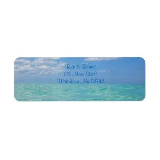 Posta etiketter för hav III Returadress Etikett