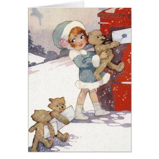 Posta julbrev av Agnes Richardson Hälsningskort
