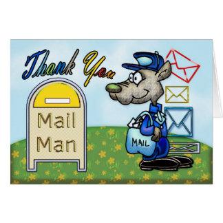 Posta manen, post- gillande tackar dig att card hälsningskort