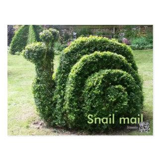 Postar den trädgårds- snigeln för topiaryen gullig vykort