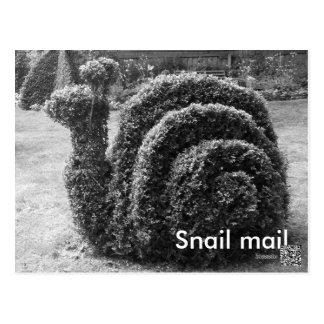 Postar den trädgårds- snigeln för topiaryen svart- vykort