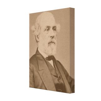 Postbellum porträtt av Robert Lee av Mathew Brady Canvastryck