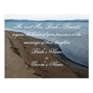 Postcard. för strandbröllopinbjudan vykort