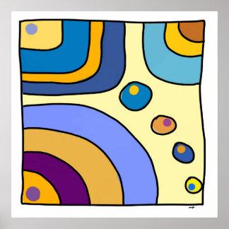 """Poster carré moyen modèle """"Bubble Gum Art"""""""