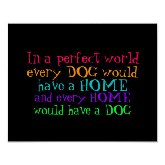poster varje hem bör ha en hund