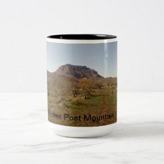 Posteringen postar berg Två-Tonad mugg