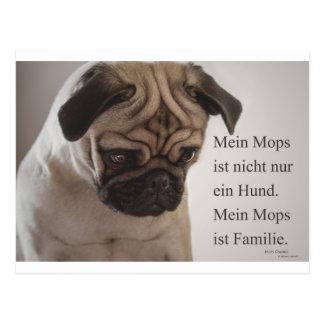 """Postkarte """"Mein Mops ist nicht nur ein Hund....... Vykort"""