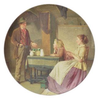 Potter, 1876 (olja på kanfas) dinner plate