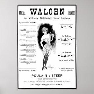 Poulain & rådkorsettannons poster