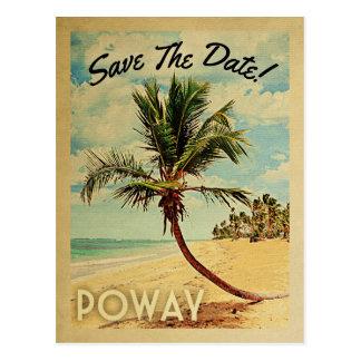 Poway Kalifornien spara dateravintagen Vykort