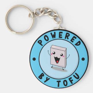 Powered by Tofu Rund Nyckelring