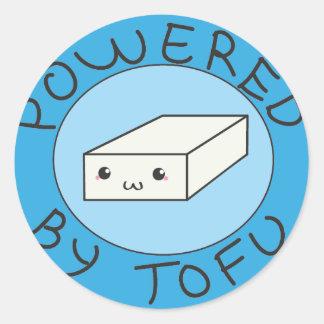 powered by tofu runt klistermärke