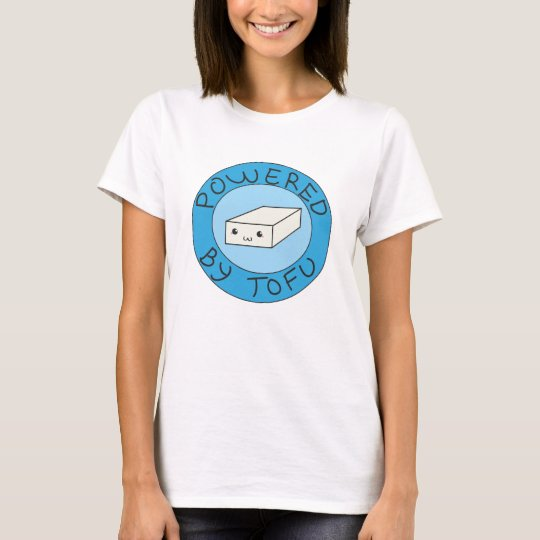 Powered by tofu tee shirt