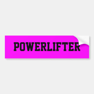 Powerlifter driver lyftarmbildekalbyggmästaren bildekal