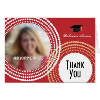 Prack rött & guld cirklar studententack hälsnings kort