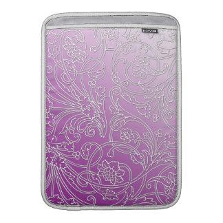 Präglad Filigree blommigt för elegant på Sleeve För MacBook Air