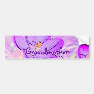 Präglad purpurfärgad krokusbildekal för farmor bildekal
